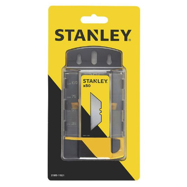Stanley Tools 1992B Knife Blades Heavy-Duty Pack of 50 Dispenser